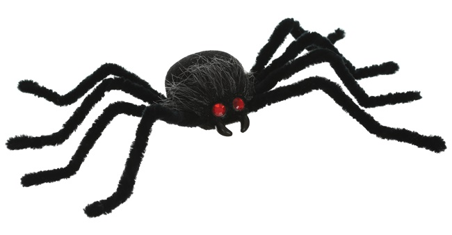 Season Posable Black Spider