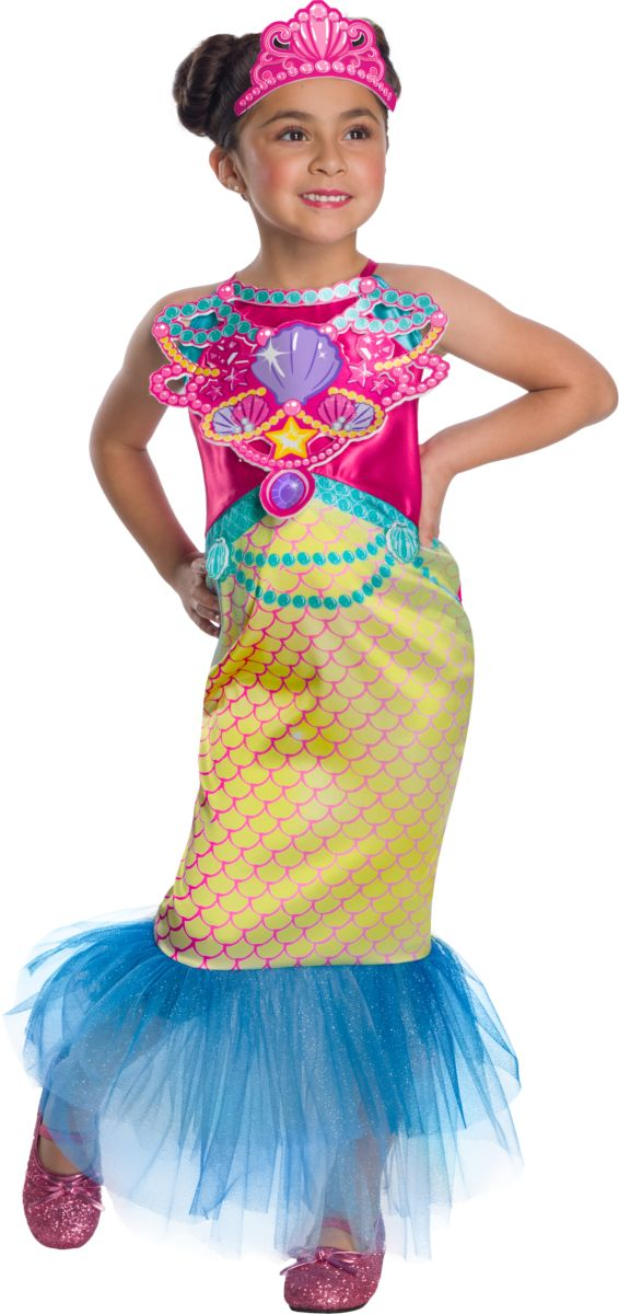 Rubie's Girl's Barbie Dreamtopia Childrens Costume, Mermaid, Small