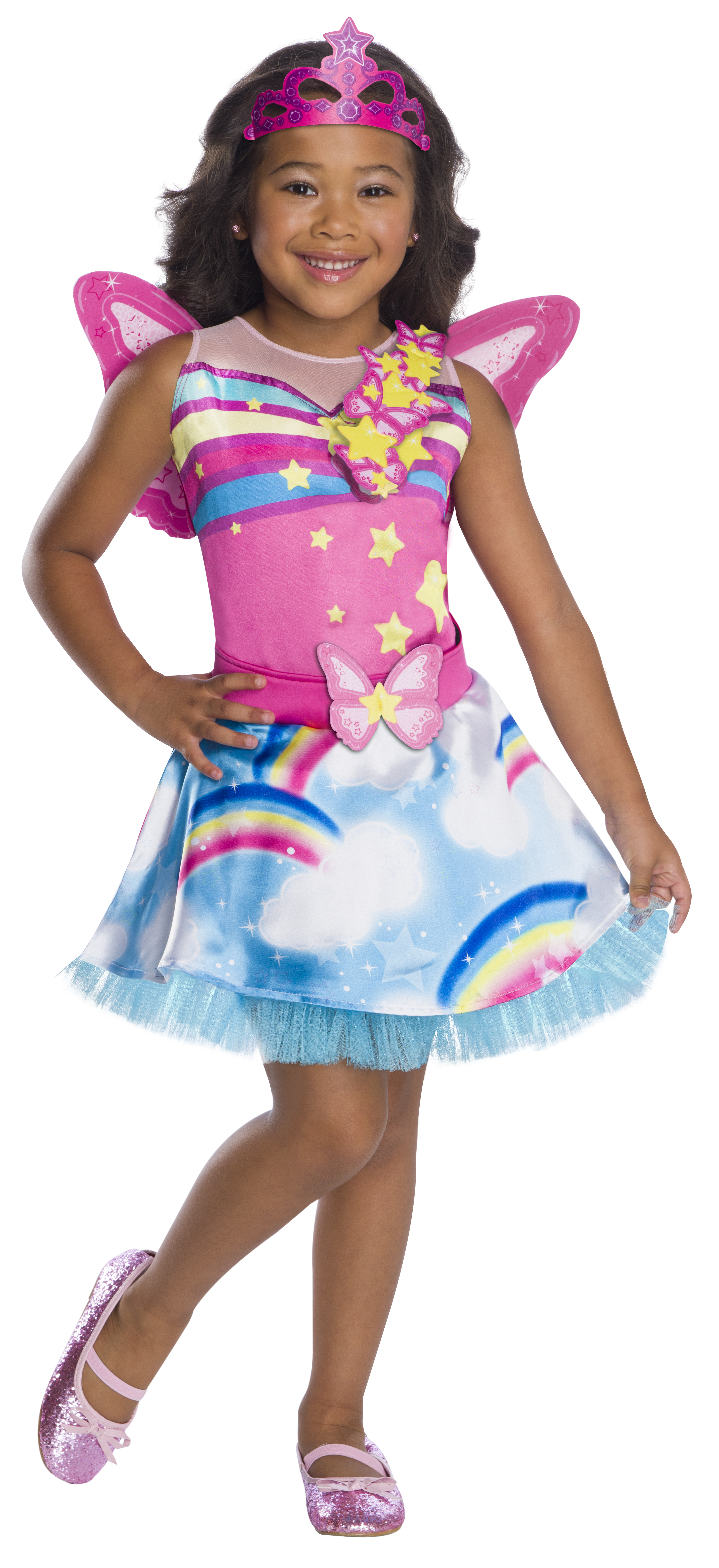 Rubie's Girl's Barbie Dreamtopia Childrens Costume, Fairy, Small