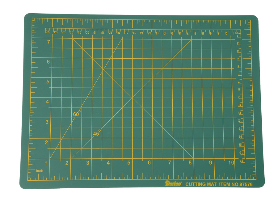 Darice Small Self Healing Cutting Mat Green 9 x 12 inches