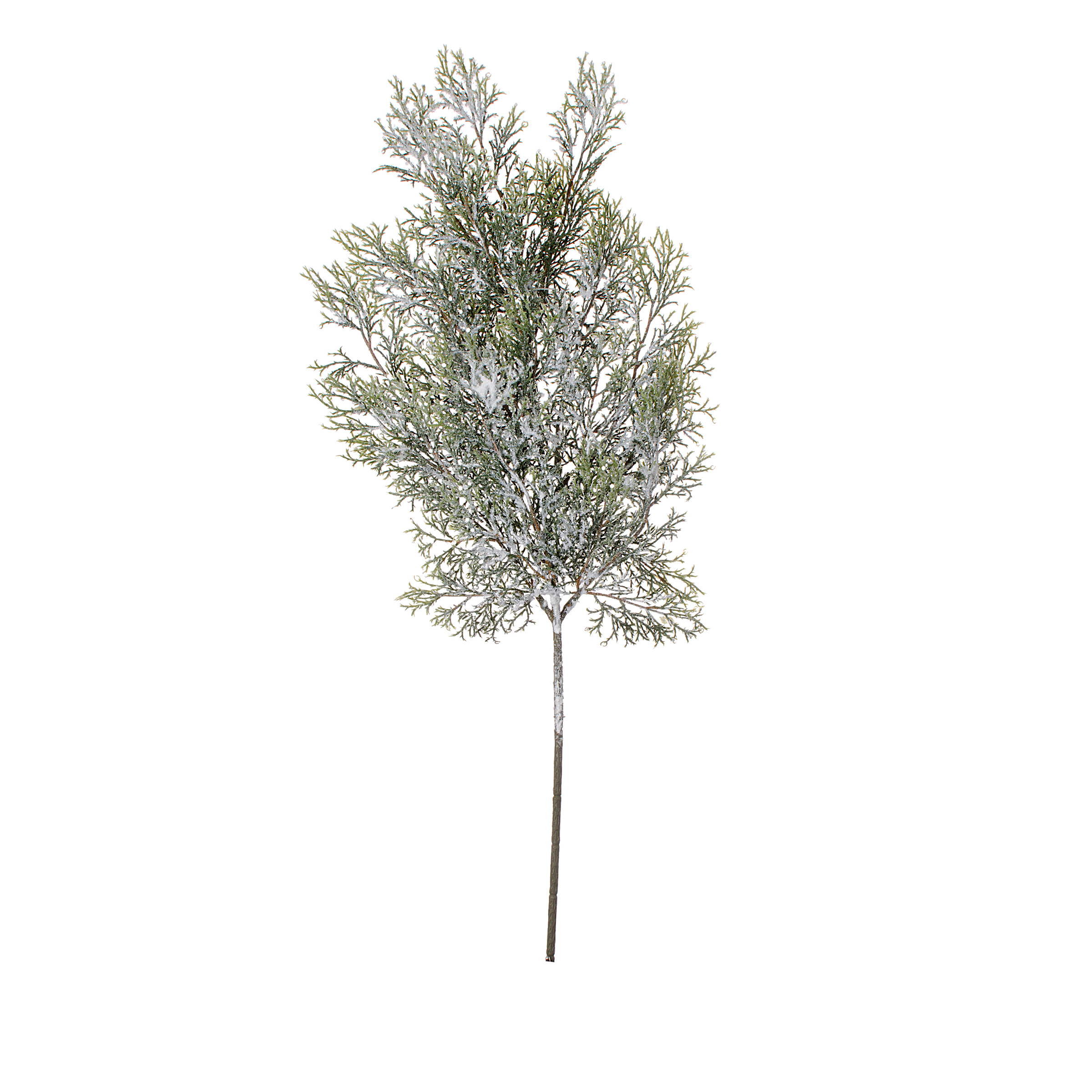 Darice Frosted Artificial Cedar Spray Green/White - 22Inches