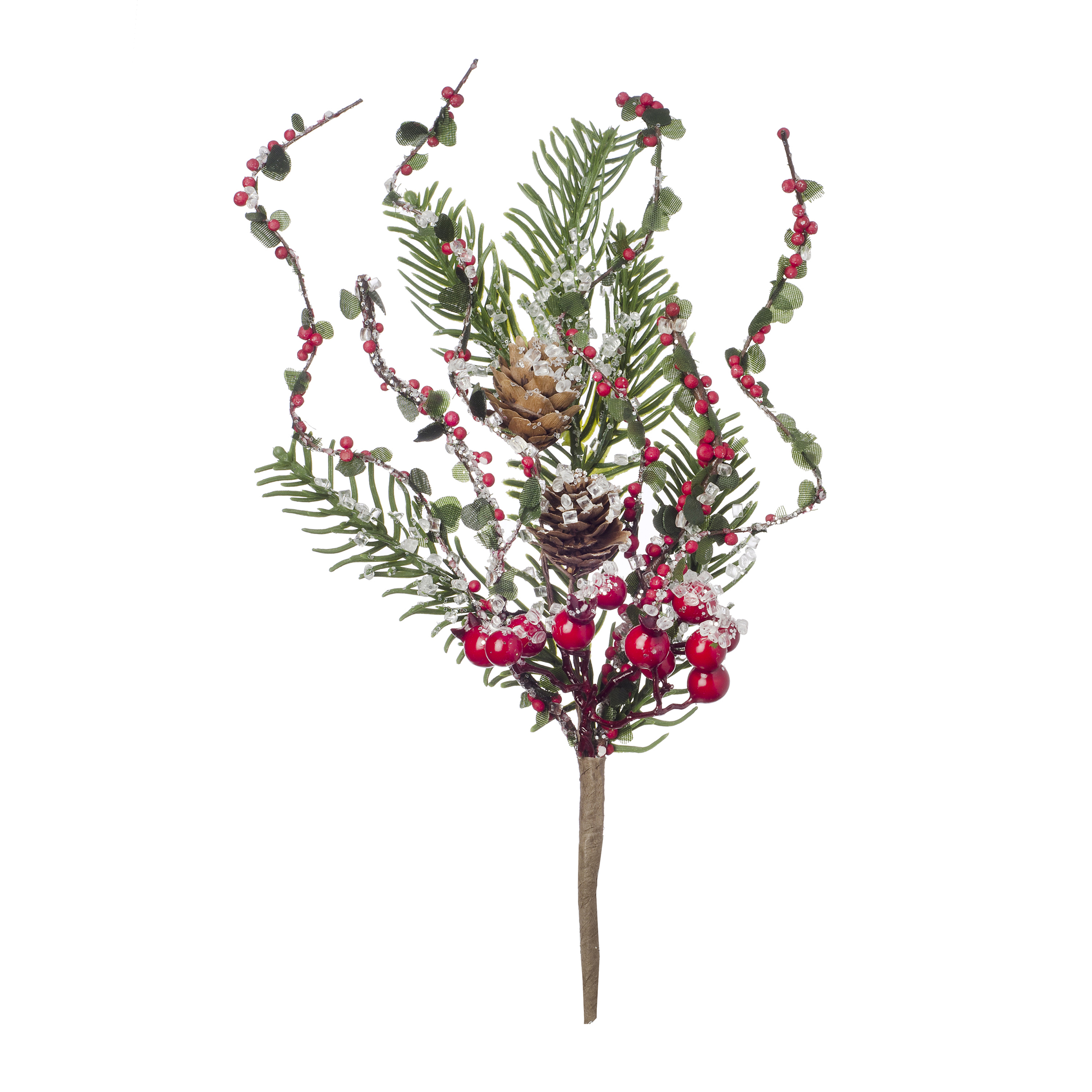 Darice Christmas Berry Pinecone Pick 7.9 X 12 Inches