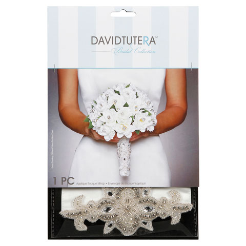 Darice David Tutera Applique Bouquet Wrap - Cream