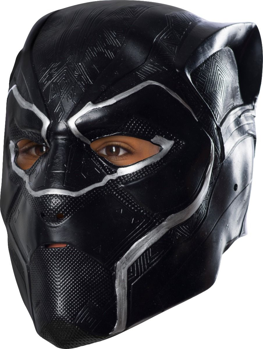 Rubie's Boys Black Panther 3/4 Mask Costume, As Shown, One Size