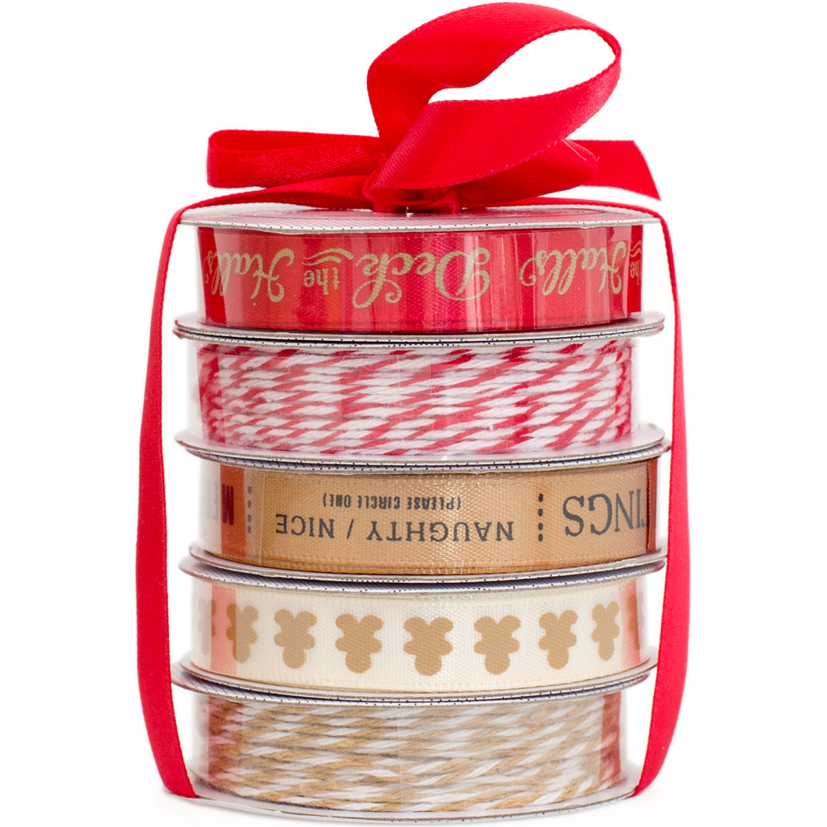 American Crafts Christmas Ribbon Deck The Halls 5 Spools