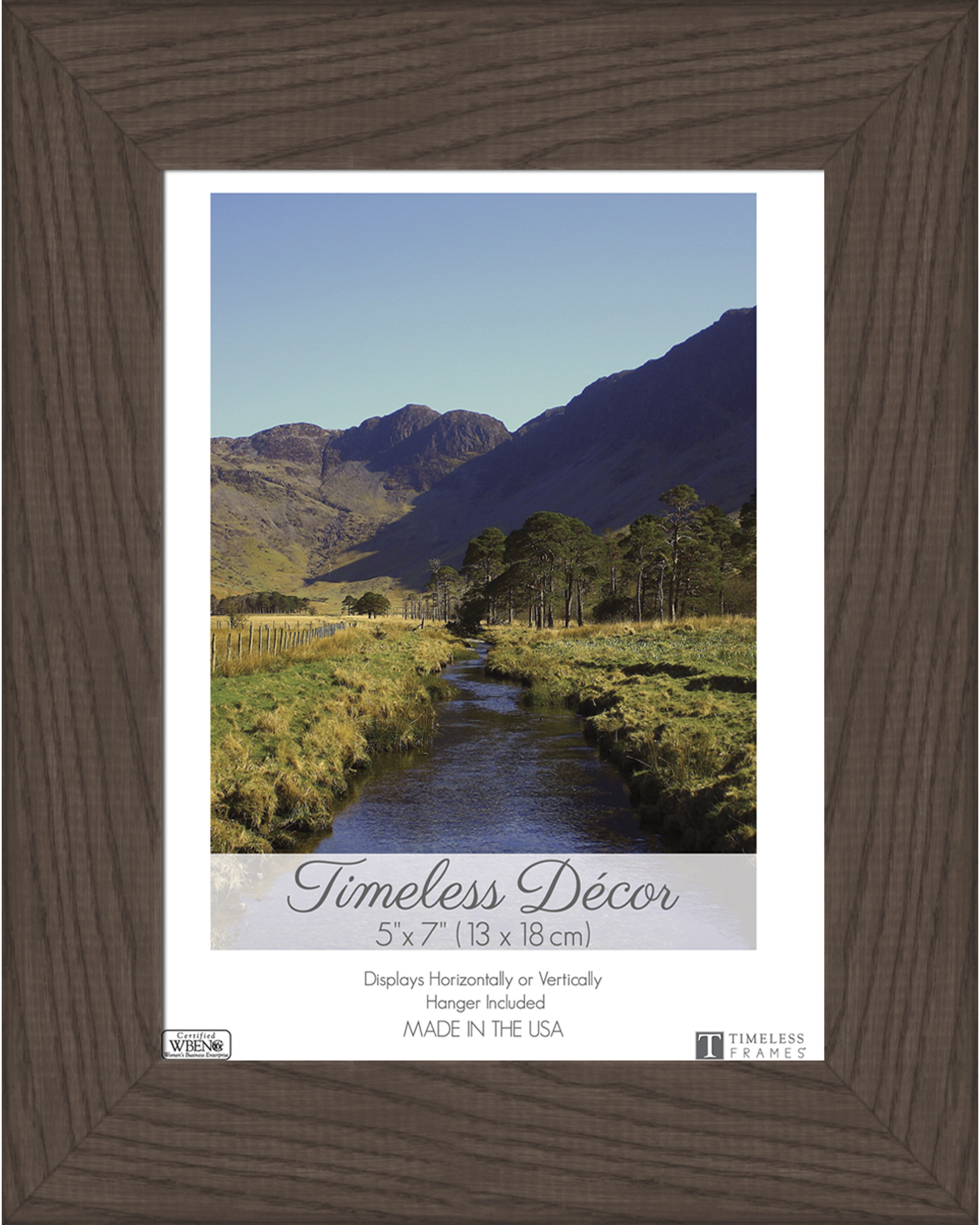Darice Timeless Decor Shea 5 X 7 Wood Picture Frame Espresso