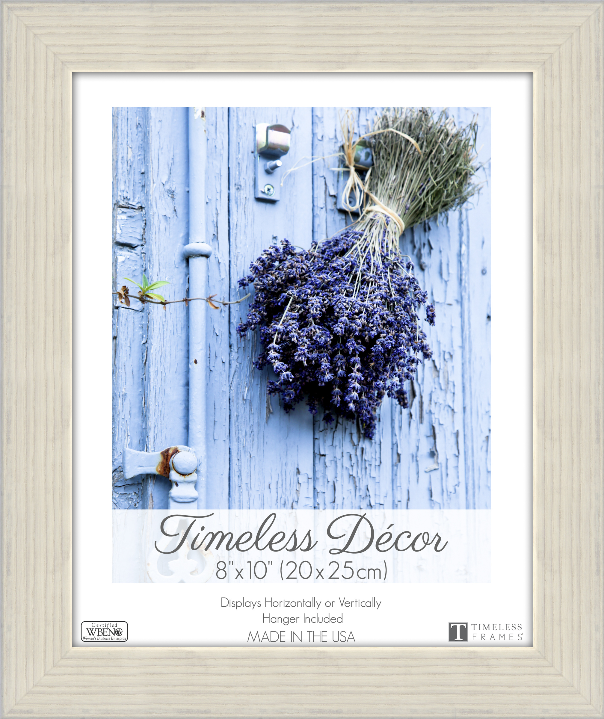 Darice Timeless Frames Shea Wood Picture Frame 8X 10 Willow Gray