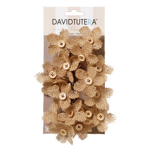 Darice David Tutera Burlap Flower Picks 4.5 x 3.5 inches