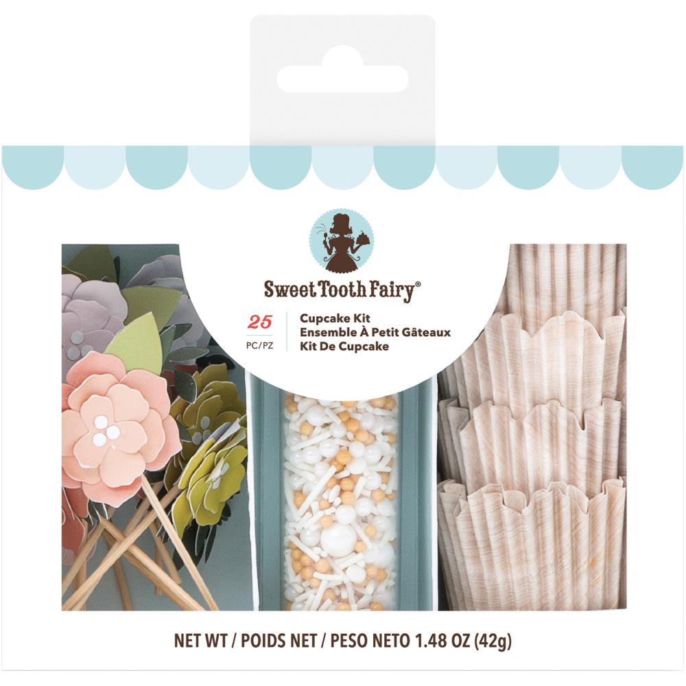 American Crafts Sweet Tooth Fairy Floral Cupcake Kit, Multi