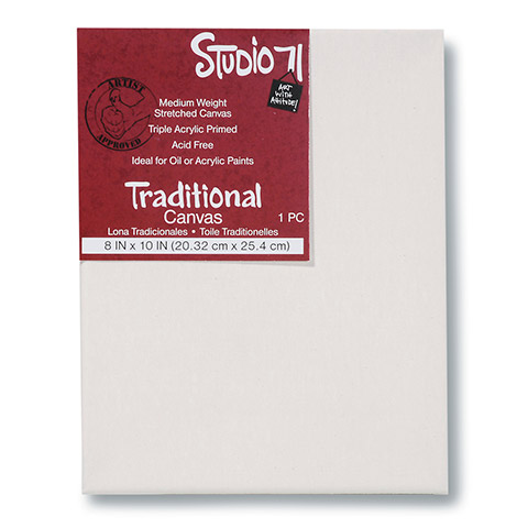Darice Studio 71 Traditional Stretched Canvas Medium 8 x 10 inches