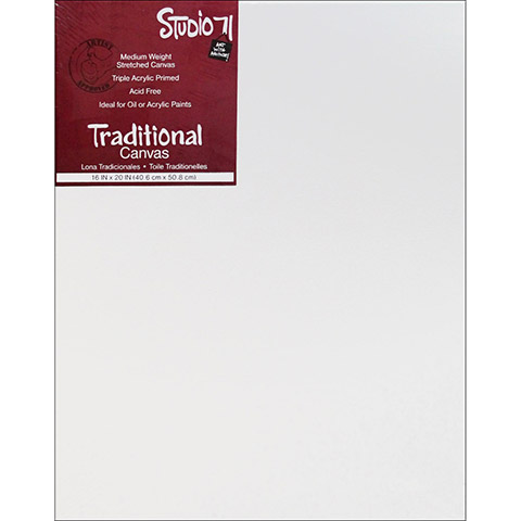 Darice Studio 71 Traditional Stretched Canvas Medium Primed 16 x 20 inches