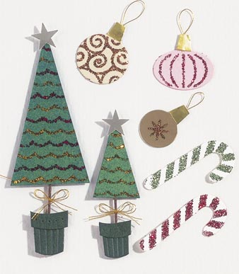 Darice Jolees Boutique Dimensional Sticker Christmas Decorations