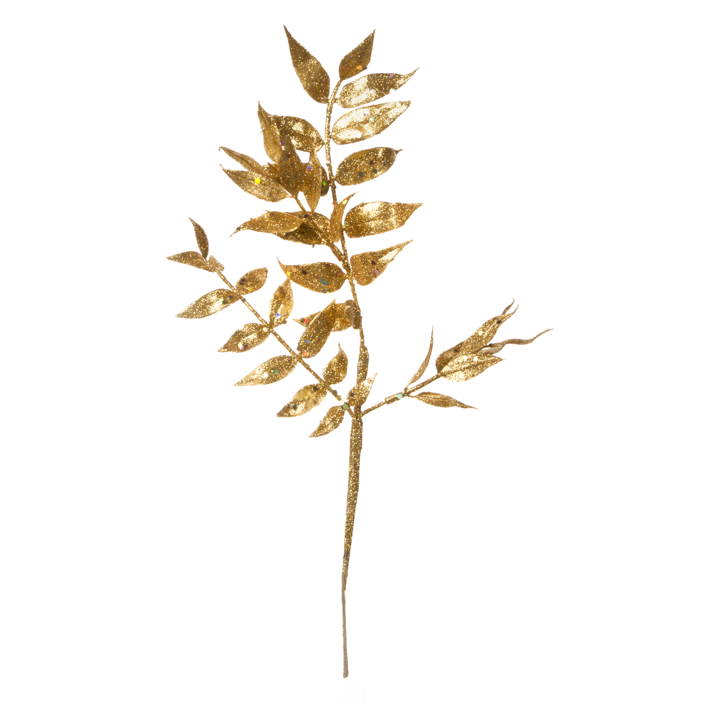 Darice Gold Leaves Pick Glitter 12 inches 4 tips
