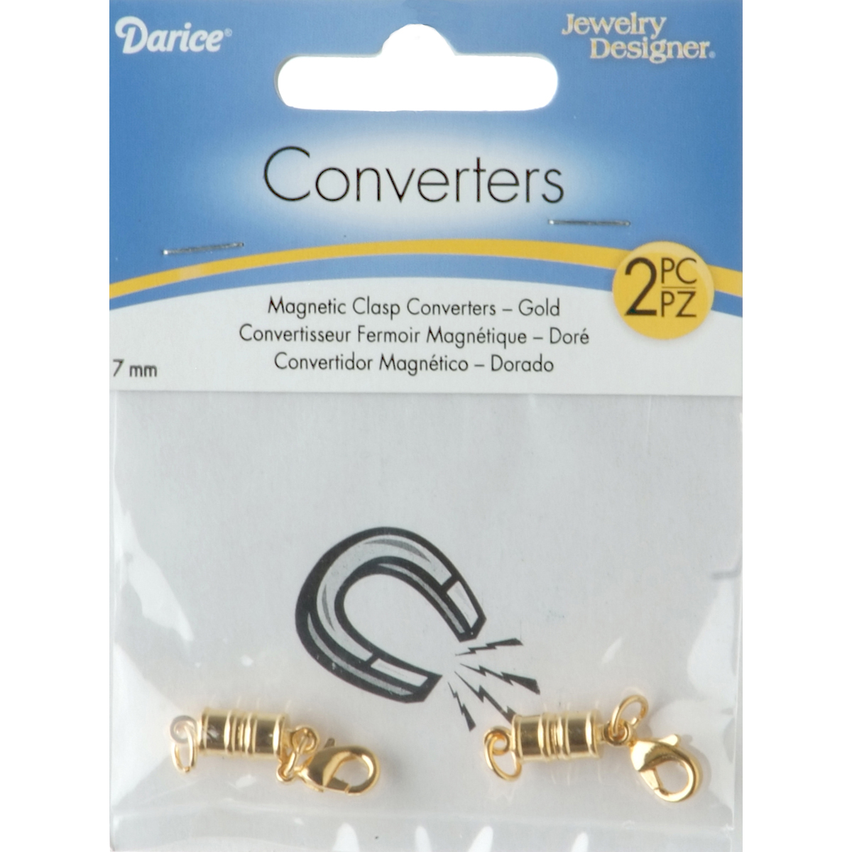 Darice Magnetic Clasp Converter 7 mm Gold