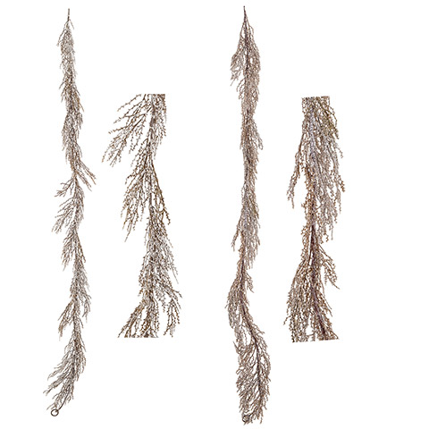 Darice Pencil Pine Garland 4 Inches X 6 Feet, 2 Assorted Colors (White,Brown) 72 inches