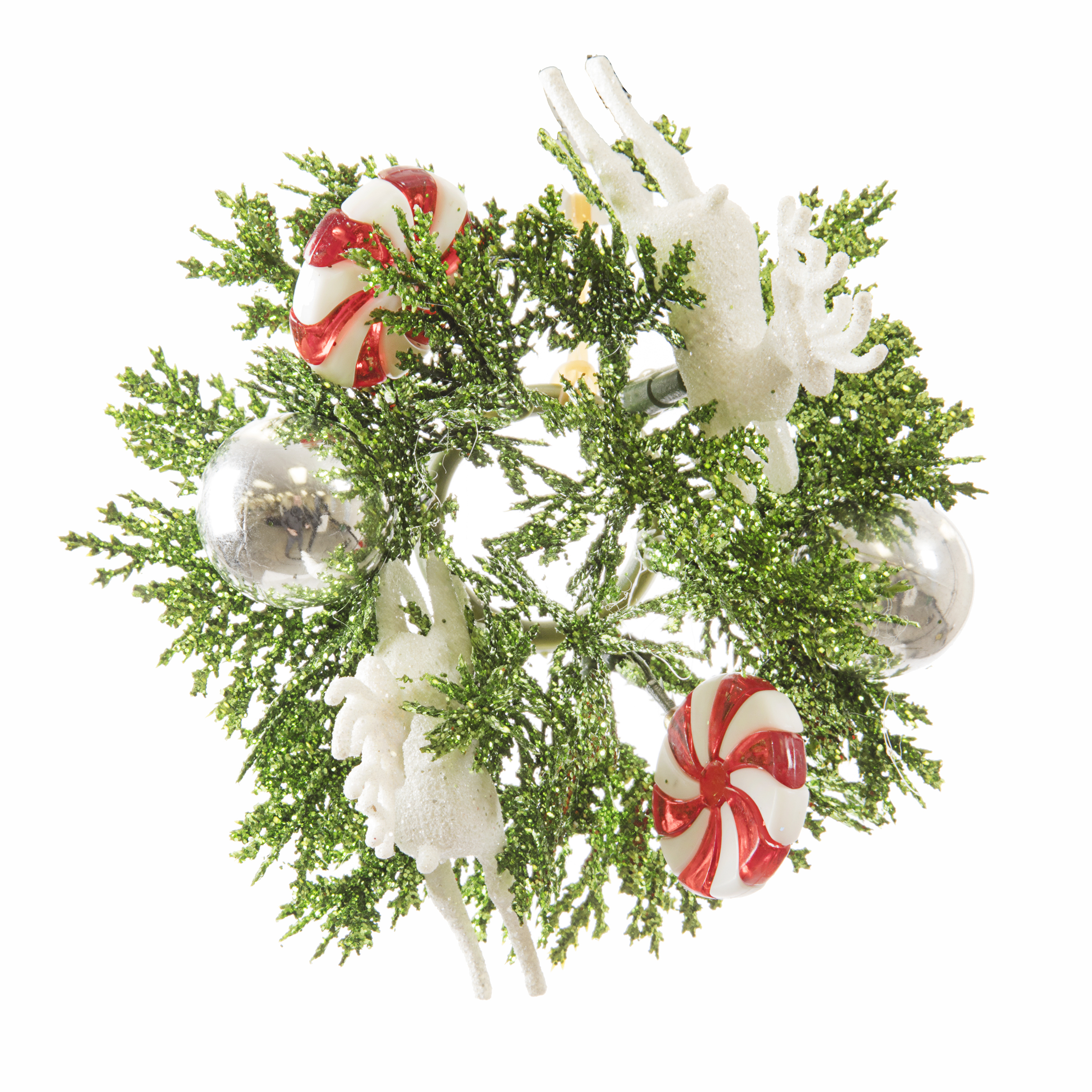 Darice Candlering Deer Candy Red And White 1Inch