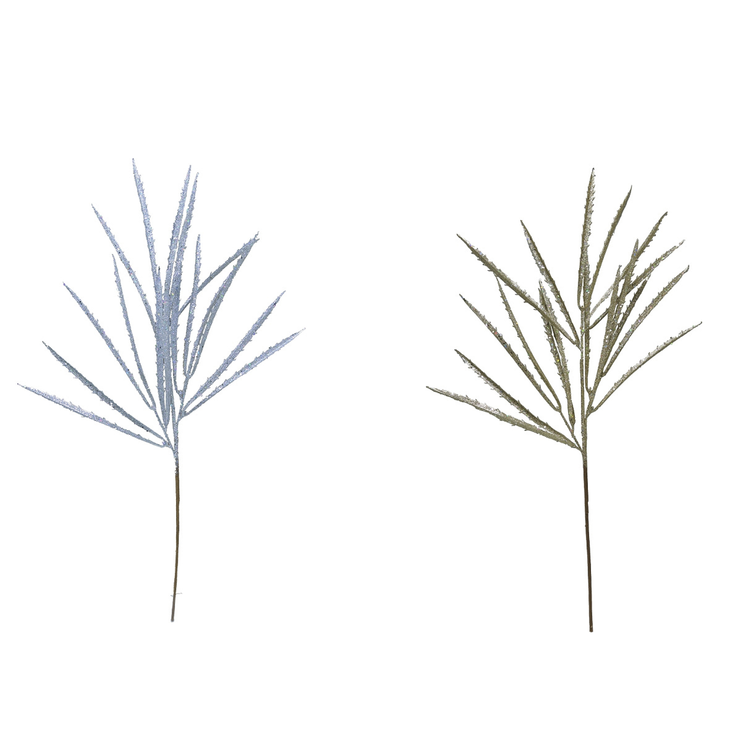 Darice Glitter Spikey Grass Spray 11 X 27 Inches, 2 Assorted Colors