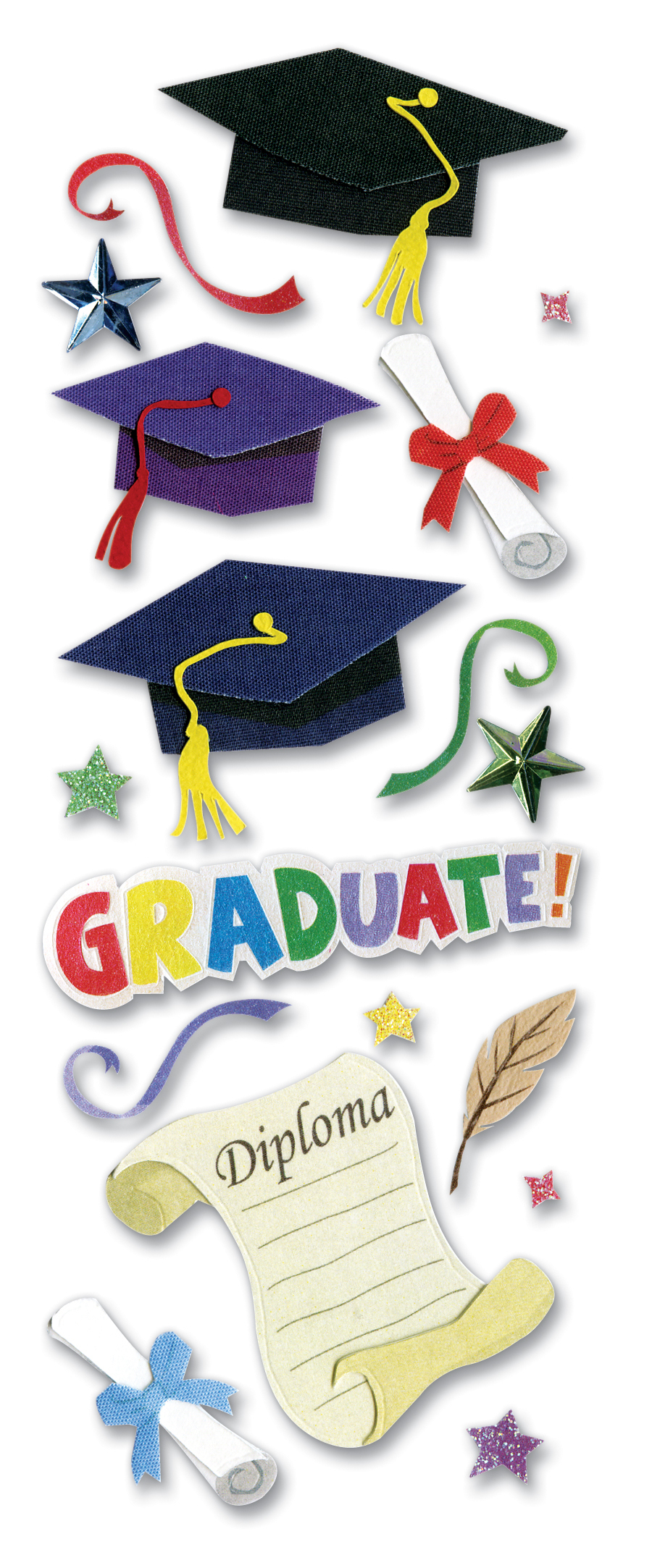 Darice Jolees Boutique Dimensional Stickers Graduation