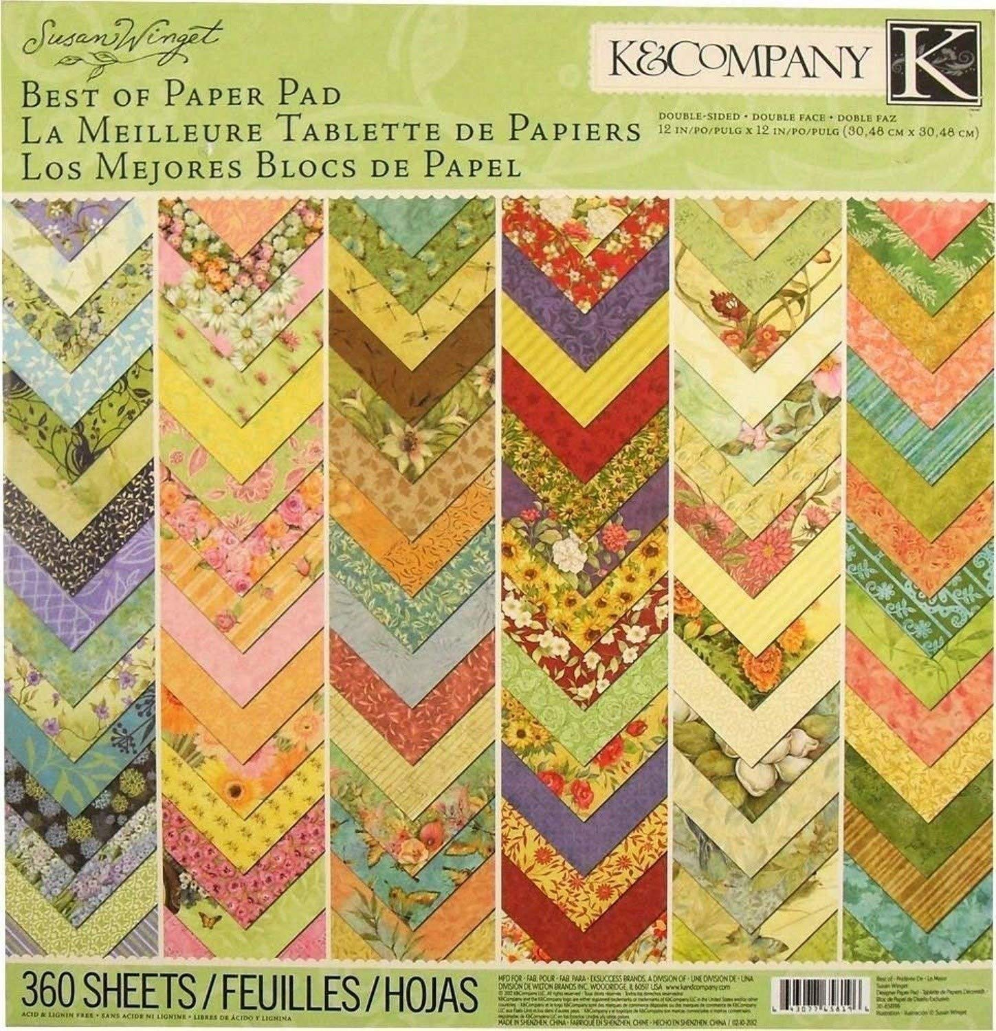 American Craft K&Company Best of Susan Winget 12x12 inches Specialty Paper Pad