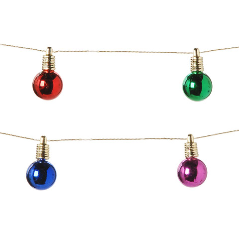 Darice Garland Shiny Bulbs Assorted Colors - 6.5 feet