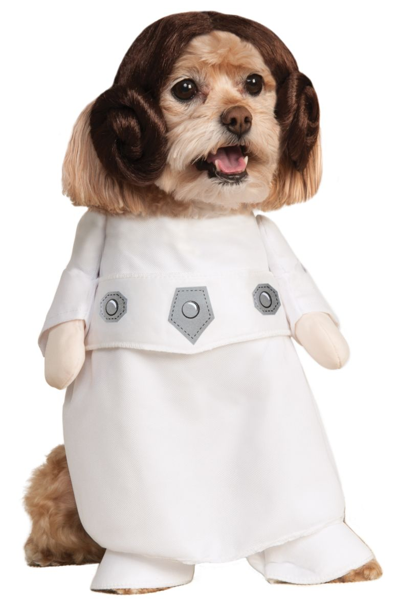 Rubies Star Wars Pet Classic Princess Leia Costume Small