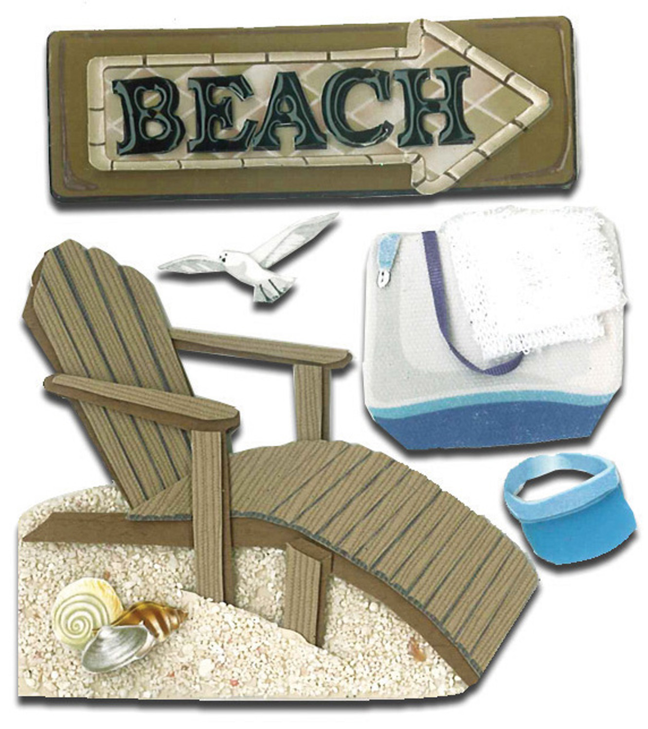 Darice Jolees Boutique Dimensional Sticker Beach House