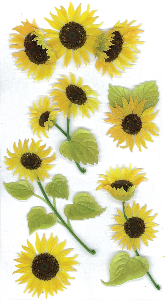 Darice JoleeS Boutique Dimensional Stickers Sunny Sunflowers
