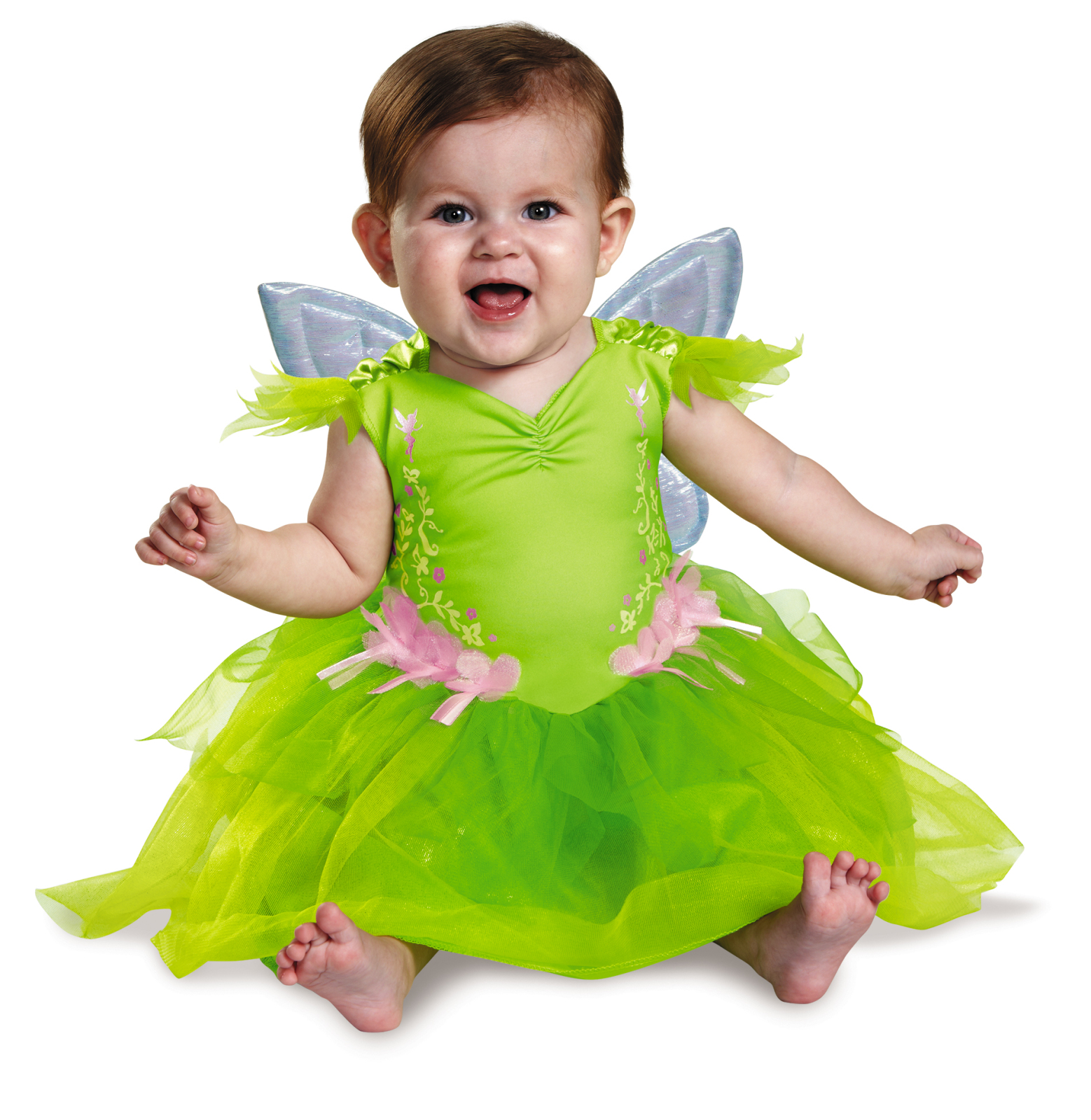 Disguise Baby Girls' Tinker Bell Deluxe Infant Costume Green 6-12 Months