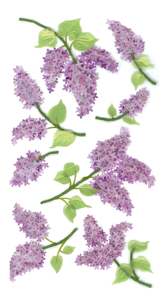 Darice Jolees Boutique Dimensional Stickers Lovely Lilacs