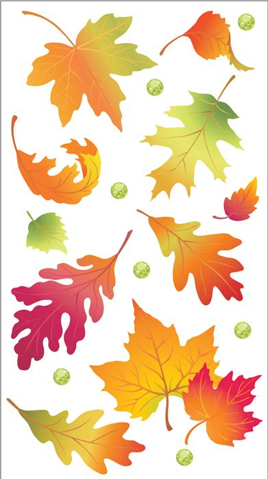 Darice Jolees Boutique 3D Stickers Vellum Leaves