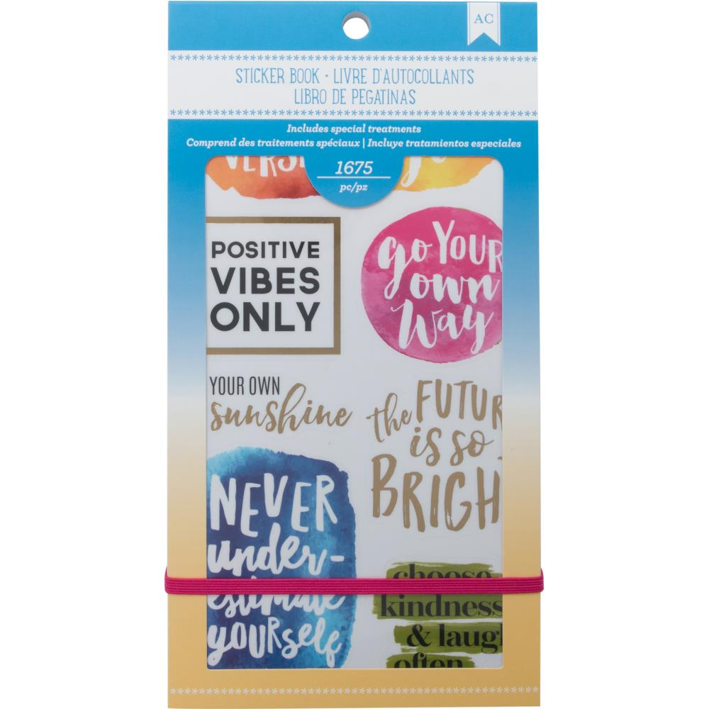 American Crafts Inspirational Life Sticker Book 4.75 X 9 inches