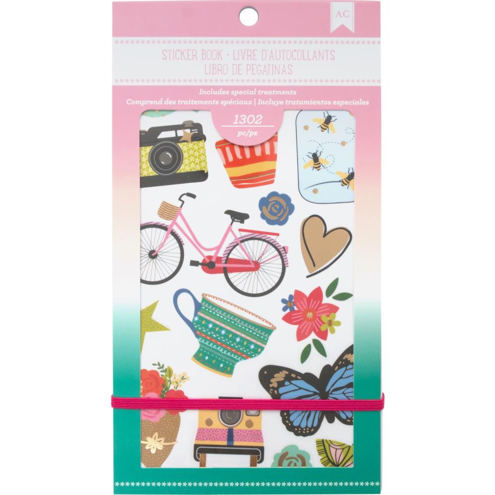 American Crafts Everyday Planner Stickers Book 4.75 X9 inches
