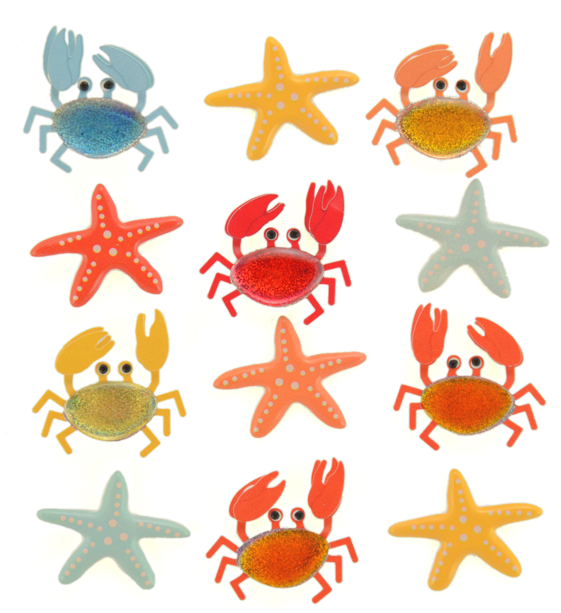 Darice Jolees Boutique Repeat Stickers Crabs and Starfish