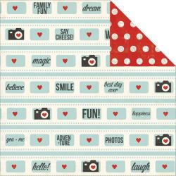 Simple Stories Say Cheese Collection 12 x 12 Double Sided Paper Fun