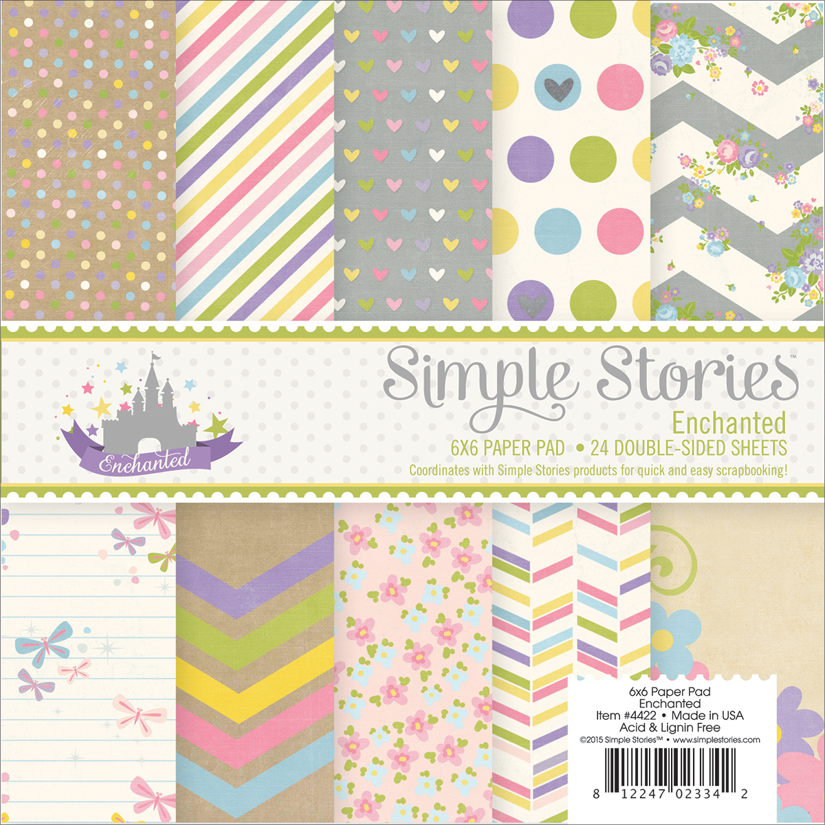 Simple Stories Enchanted Collection 6 X 6 Paper Pad