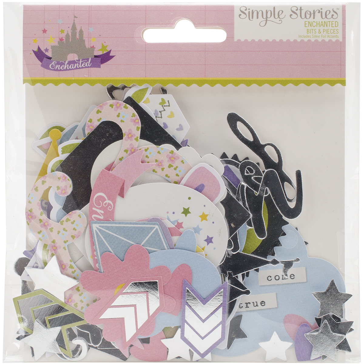 Simple Stories Enchanted Collection Bits and Pieces with Foil Accents