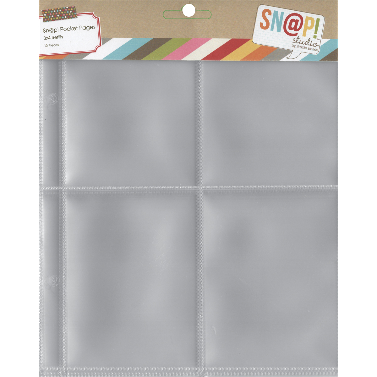 Simple Stories SNAP Studio Collection 3 X 4 Divided Page Protectors
