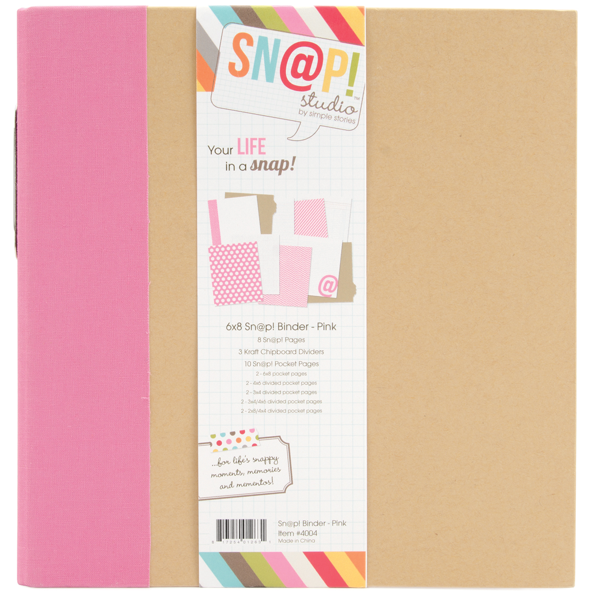 Simple Stories SNAP Studio Collection Binder Pink