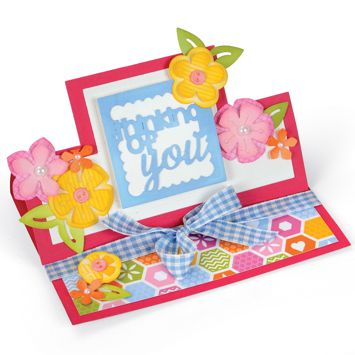 Sizzix Framelits Die Card Thinking Of You Mini Stand Ups