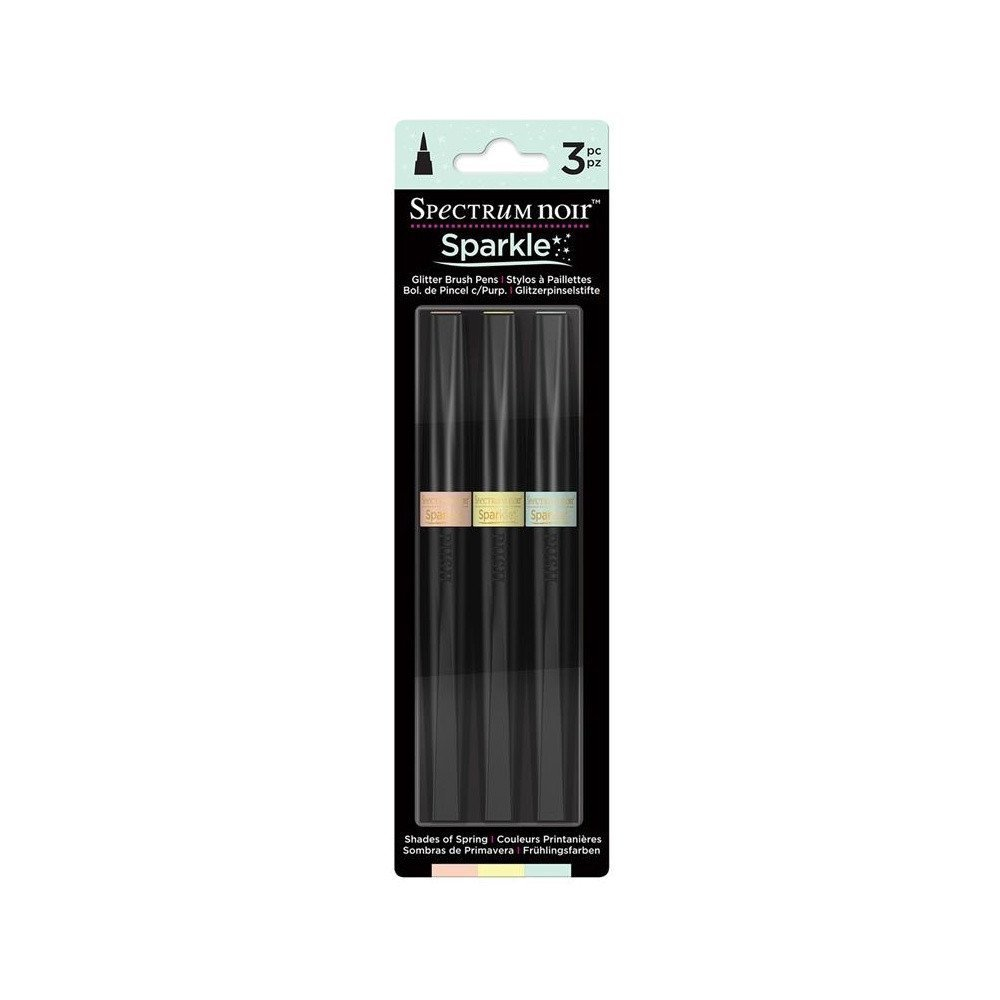 Crafters Companion Spectrum Noir Sparkle Markers Shades of Spring