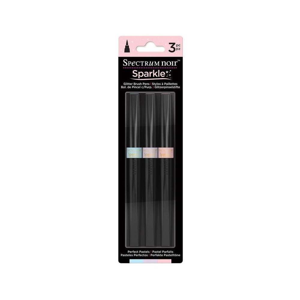 Crafters Companion Spectrum Noir Sparkle Markers Perfect Pastels