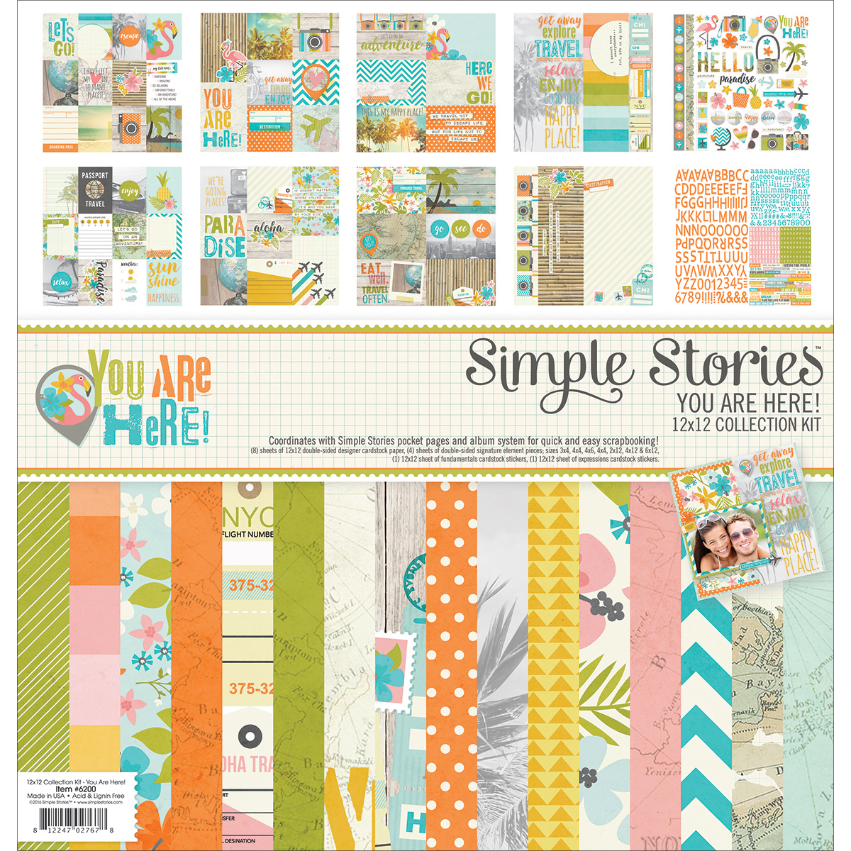Simple Stories You Are Here Collection 12 X 12 Collection Kit
